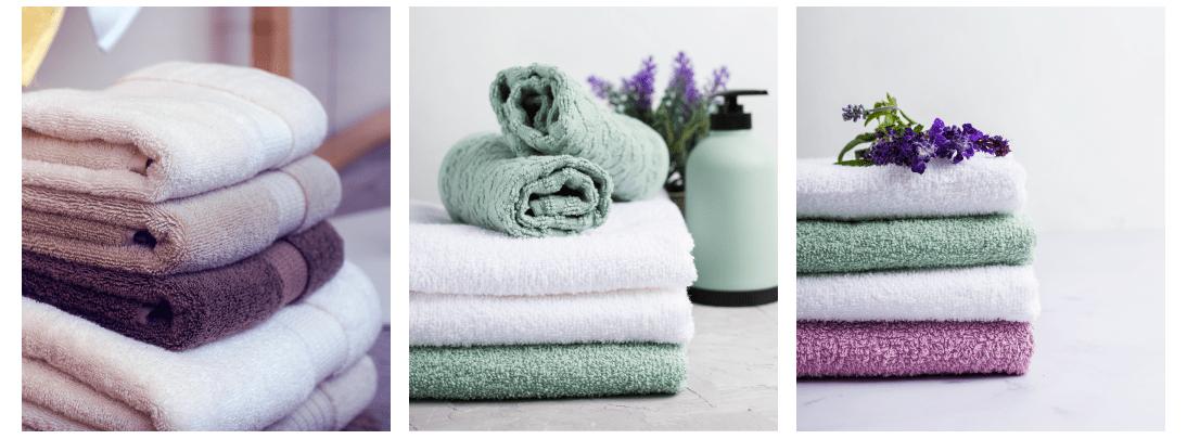 toalhas de banho e rosto