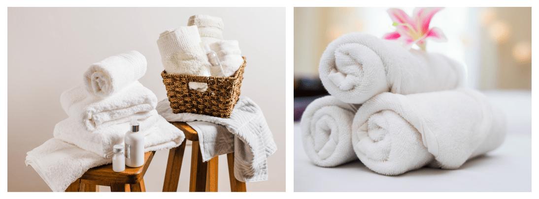 organizar toalhas de banho