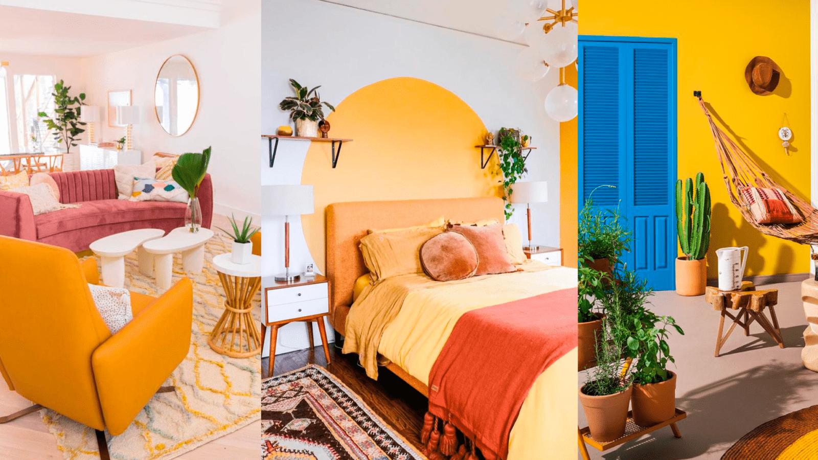 casa decoração amarela