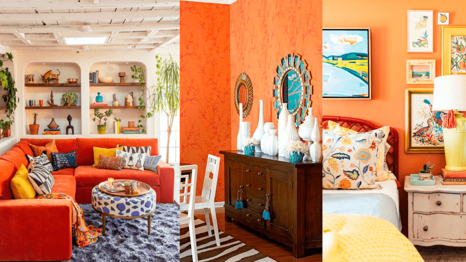 casa com decoracao laranja