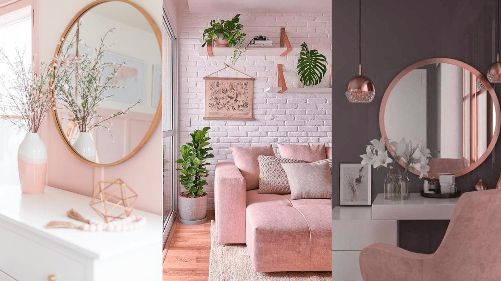 casa com decoracao em rosa