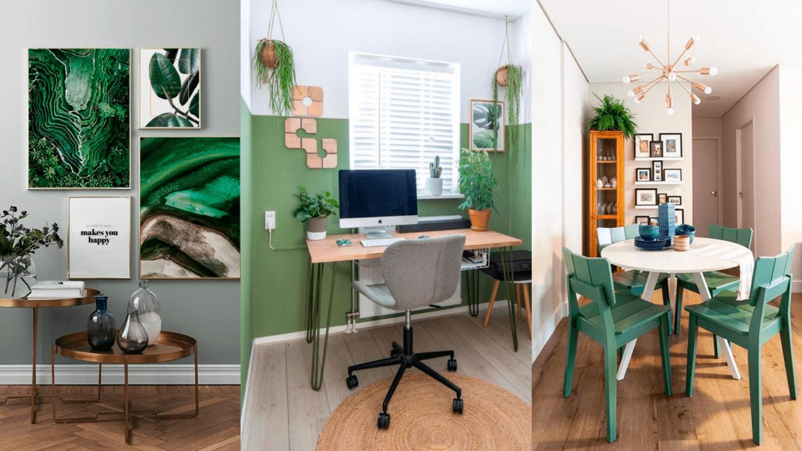 casa com decoracao em verde