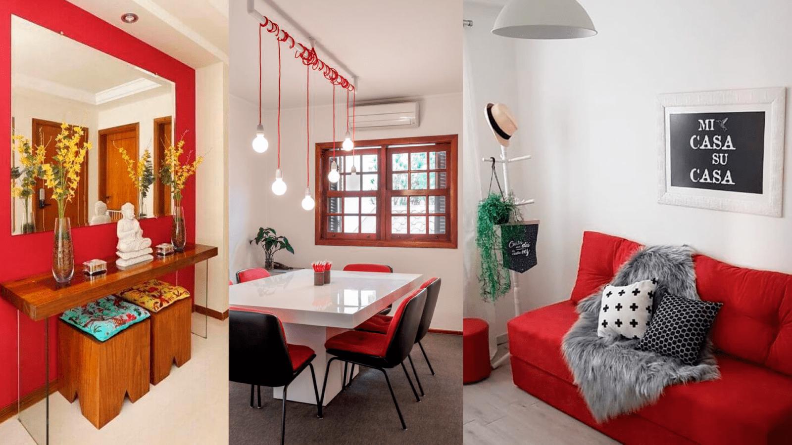 casa com decoracao vermelha